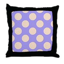 polka dots purple Throw Pillow