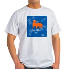 Ferret Happy Holidays! (Round) Ornam T-Shirt