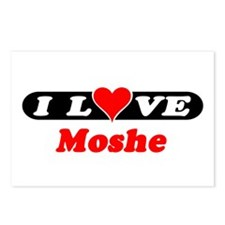 I Love Moshe Postcards (Package of 8)
