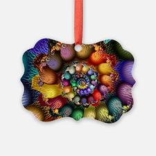 Textured Fractal Spiral Ornament