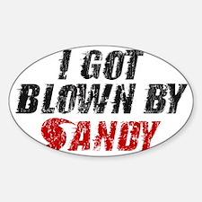 I Got Blown By Sandy - Hurricane Sa Decal