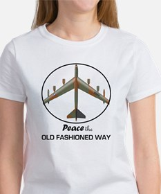 B-52 Stratofortress Peace the Old  Women's T-Shirt