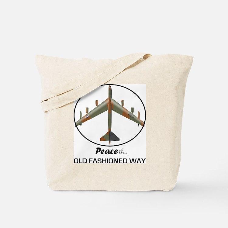 B-52 Stratofortress Peace the Old Fashion Tote Bag