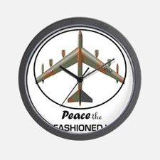 B-52 Stratofortress Peace the Old Fashi Wall Clock