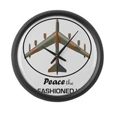 B-52 Stratofortress Peace the Old Large Wall Clock