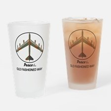 B-52 Stratofortress Peace the Old F Drinking Glass