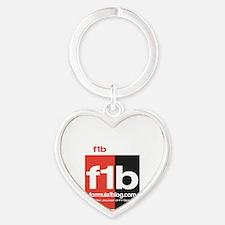 F1B Austin front Heart Keychain
