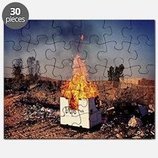 Afghanistan Bon-Fire Party Puzzle