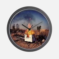 Afghanistan Bon-Fire Party Wall Clock
