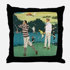 Vintage Golf Throw Pillow