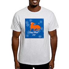 Ferret Happy Holidays! Snow Ornament T-Shirt