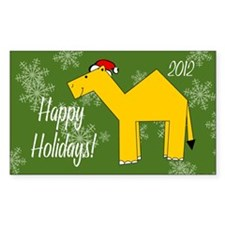 Camel Happy Holidays! Picture  Decal