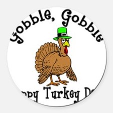 Thanksgiving Round Car Magnet