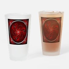 Red Triple Celtic Dragons Tapestry Drinking Glass