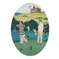 Vintage Golf Oval Ornament