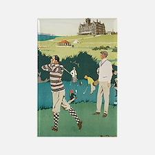Vintage Golf Rectangle Magnet