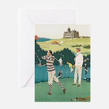 Vintage Golf Greeting Card