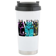 nurse cat NO BACKGROUND Travel Mug