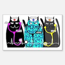 nurse cat NO BACKGROUND Sticker (Rectangle)