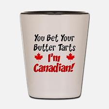 Bet Your Butter Tarts Canadian Shot Glass