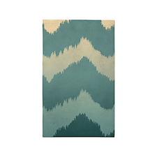 forest chevron print 3'x5' Area Rug