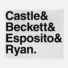 Castle Characters Throw Blanket