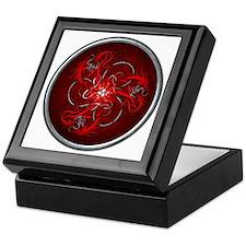 Triple Celtic Dragons - Red Keepsake Box