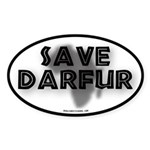 Save Darfur Oval Sticker