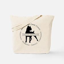 About Time Cane Corso Logo (Black) Tote Bag