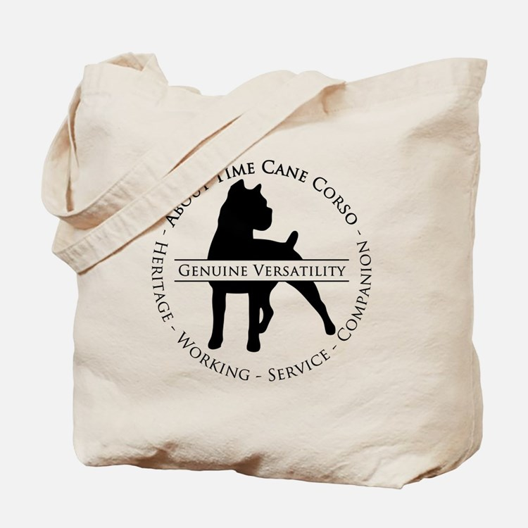 About Time Cane Corso Logo (Black) Tote Bag