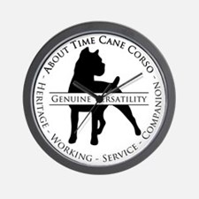 About Time Cane Corso Logo (Black) Wall Clock