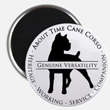 About Time Cane Corso Logo (Black) Magnet
