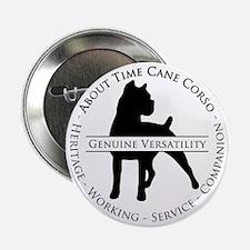"""About Time Cane Corso Logo (Black) 2.25"""" Button"""