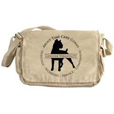 About Time Cane Corso Logo (Black) Messenger Bag