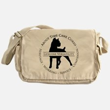 About Time Cane Corso Logo (Black) Messenger Bag
