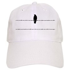 bird on barbed wire Baseball Cap