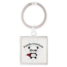 PandaMonium Square Keychain