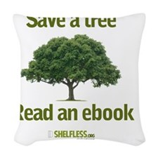 Save a Tree Woven Throw Pillow