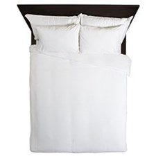 About Time Cane Corso Logo (White) Queen Duvet