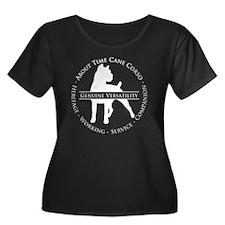 About Ti Women's Plus Size Dark Scoop Neck T-Shirt
