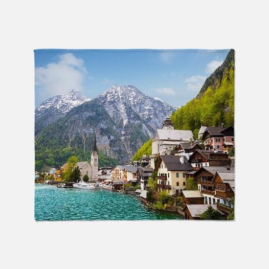 Beautiful summer Alpine Hallstatt To Throw Blanket