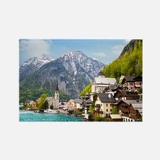 Beautiful summer Alpine Hallstatt Rectangle Magnet