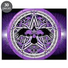 Purple Crow Pentacle Banner Puzzle