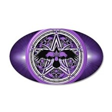 Purple Crow Pentacle Banner Wall Decal