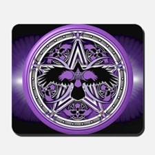 Purple Crow Pentacle Banner Mousepad