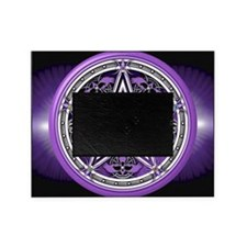 Purple Crow Pentacle Banner Picture Frame