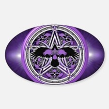 Purple Crow Pentacle Banner Decal