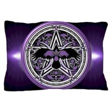 Purple Crow Pentacle Pillow Case