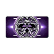 Purple Crow Pentacle Aluminum License Plate