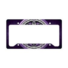 Purple Crow Pentacle License Plate Holder